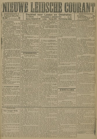 Nieuwe Leidsche Courant 1923-01-04
