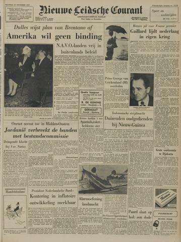Nieuwe Leidsche Courant 1957-11-25