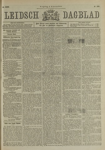Leidsch Dagblad 1911-12-01