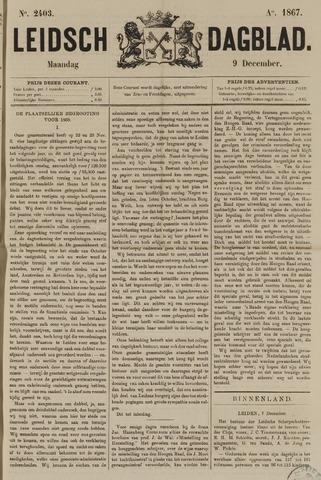 Leidsch Dagblad 1867-12-09