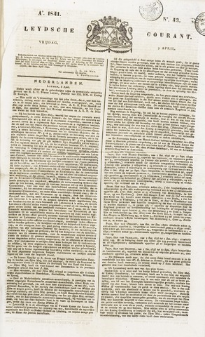Leydse Courant 1841-04-09