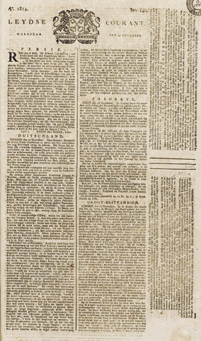 Leydse Courant 1814-11-23