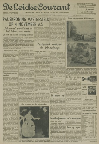 Leidse Courant 1958-10-30