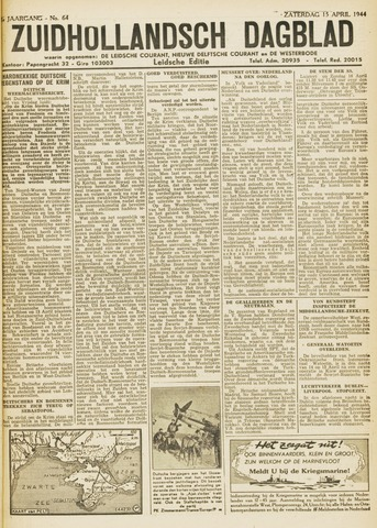 Zuidhollandsch Dagblad 1944-04-15