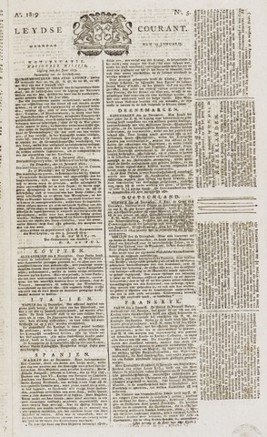 Leydse Courant 1819-01-11