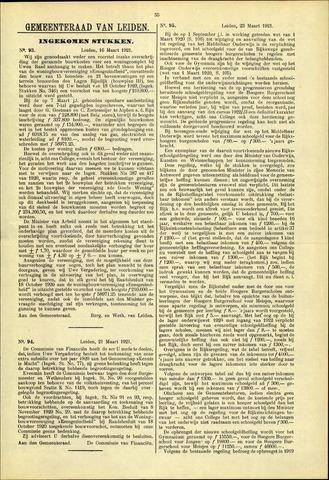 Handelingen van de Raad 1921-03-16