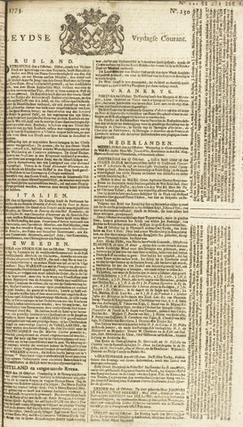 Leydse Courant 1773-10-29