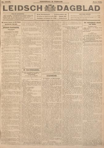 Leidsch Dagblad 1926-02-18