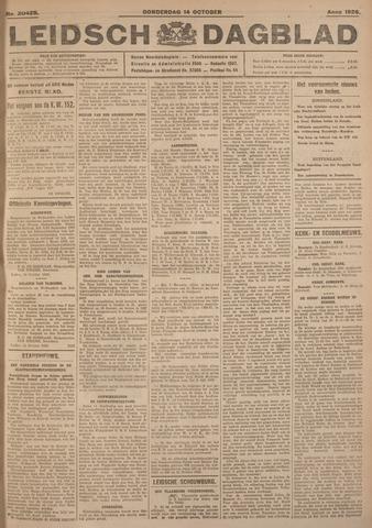 Leidsch Dagblad 1926-10-14
