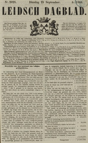 Leidsch Dagblad 1866-09-25