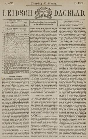 Leidsch Dagblad 1882-03-21