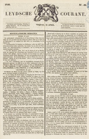 Leydse Courant 1846-04-24