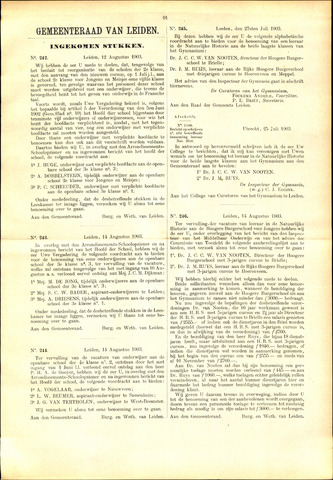 Handelingen van de Raad 1903-08-12