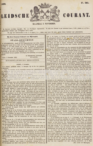 Leydse Courant 1883-11-05