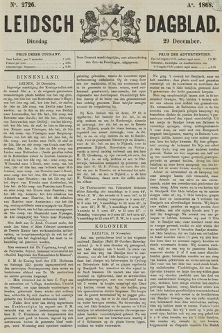 Leidsch Dagblad 1868-12-29