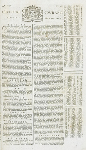 Leydse Courant 1828-02-18