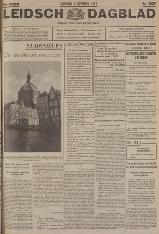 Leidsch Dagblad 1937-11-06