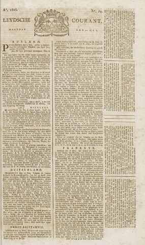 Leydse Courant 1826-05-22