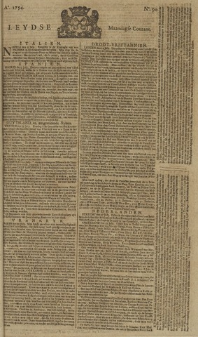 Leydse Courant 1754-07-29