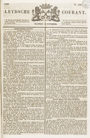 Leydse Courant 1860-11-12