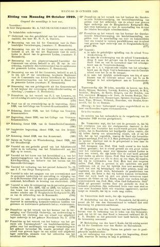 Handelingen van de Raad 1929-10-28