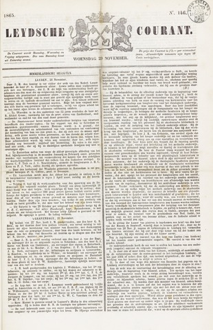 Leydse Courant 1865-11-29