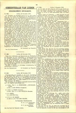 Handelingen van de Raad 1913-11-25