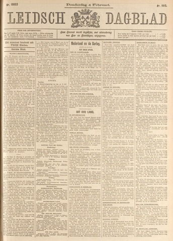 Leidsch Dagblad 1915-02-04