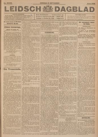 Leidsch Dagblad 1926-09-21