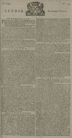 Leydse Courant 1734-10-27