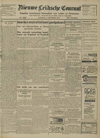 Nieuwe Leidsche Courant 1939-11-04