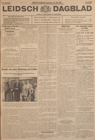 Leidsch Dagblad 1930-07-10