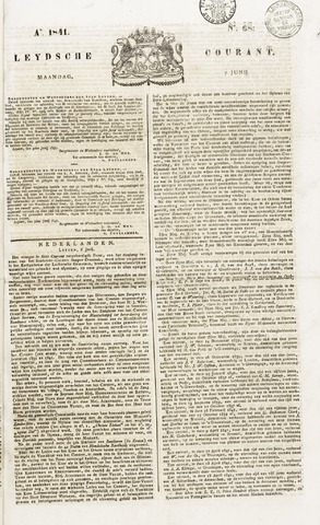 Leydse Courant 1841-06-07