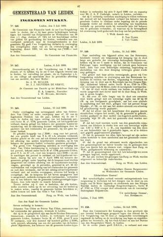 Handelingen van de Raad 1899-07-03