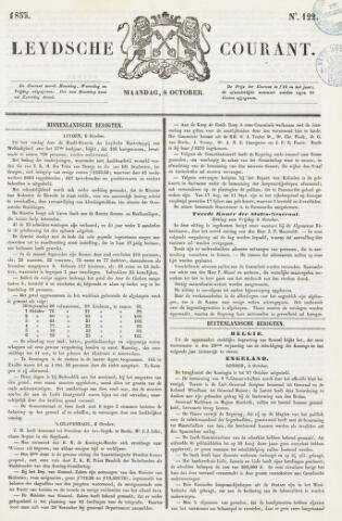 Leydse Courant 1855-10-08