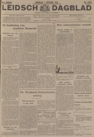Leidsch Dagblad 1940-11-07