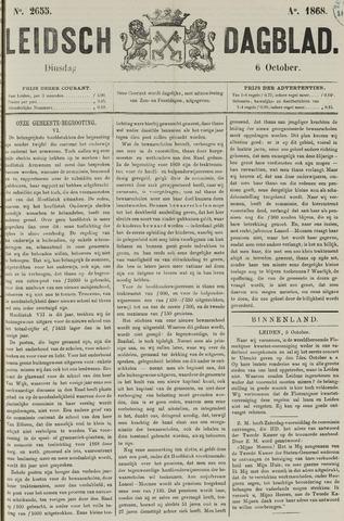 Leidsch Dagblad 1868-10-06