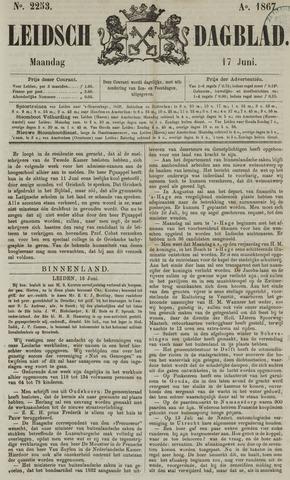 Leidsch Dagblad 1867-06-17