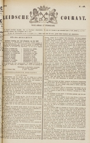 Leydse Courant 1884-02-27