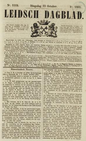 Leidsch Dagblad 1863-10-13
