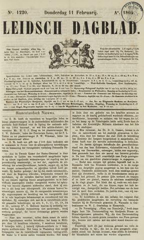 Leidsch Dagblad 1864-02-11