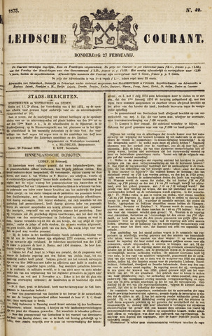 Leydse Courant 1873-02-27