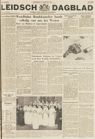 Leidsch Dagblad 1954-02-24