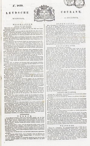 Leydse Courant 1839-12-11