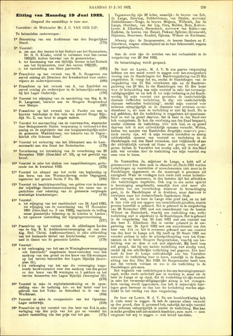 Handelingen van de Raad 1922-06-19