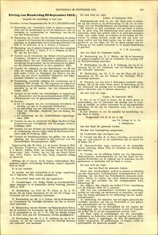 Handelingen van de Raad 1913-09-25