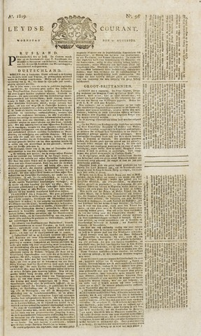 Leydse Courant 1819-08-11
