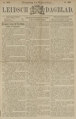 Leidsch Dagblad 1885-09-14