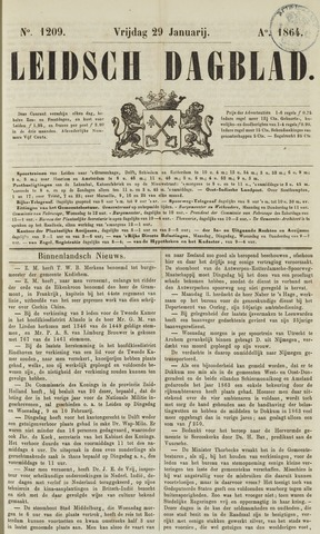 Leidsch Dagblad 1864-01-29