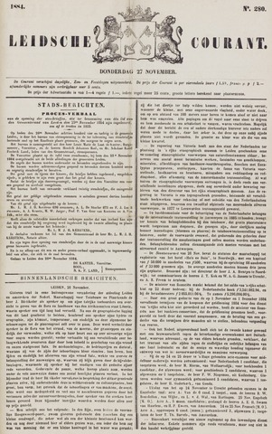 Leydse Courant 1884-11-27